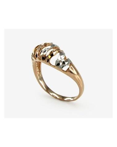 Auksinis žiedas(AU-R+PRH-W), Raudonas auksas585, rodis (padengti) 1
