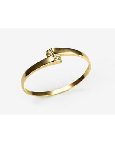 Auksinis žiedas(AU-Y)_CZ, Geltonas auksas585, Cirkonai 0
