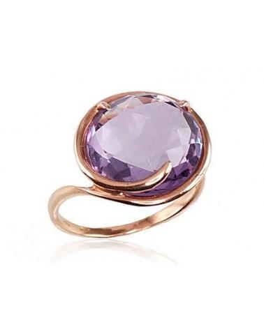 Auksinis žiedas(AU-R)_AM, Raudonas auksas585, Ametistas 0