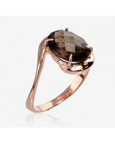 Auksinis žiedas(AU-R)_KZSM, Raudonas auksas585, Dulsvas kvarcas 1