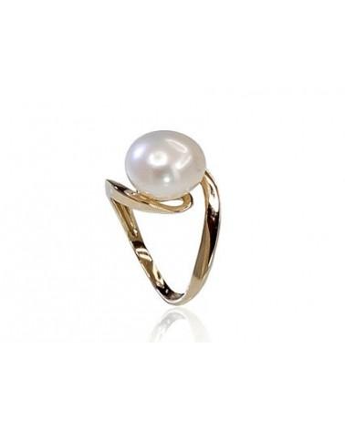 Auksinis žiedas(AU-Y)_PE, Geltonas auksas585, Perlai 1
