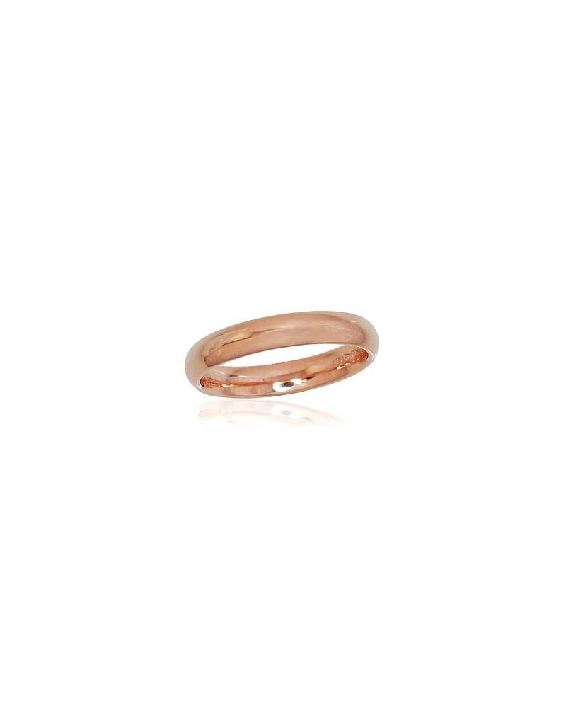 Auksinis sutuoktuvių žiedas(AU-R) (Comfort fit, Žiedas storis 3.5mm), Raudonas auksas5850