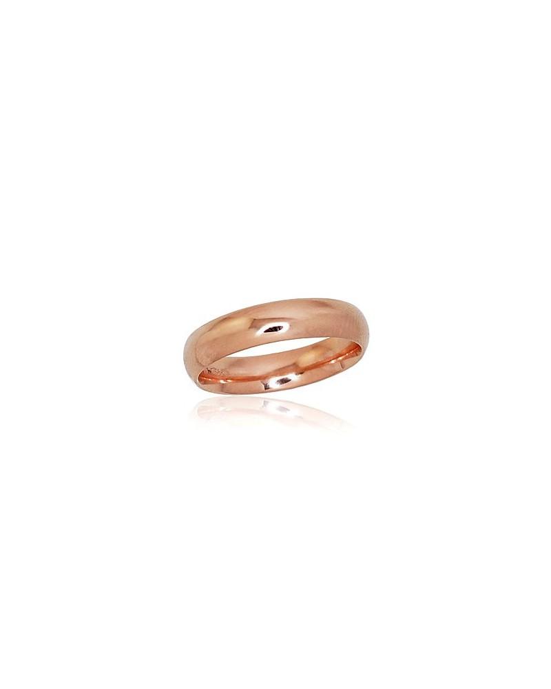 Auksinis sutuoktuvių žiedas(AU-R) (Comfort fit, Žiedas storis 4.5mm), Raudonas auksas5850