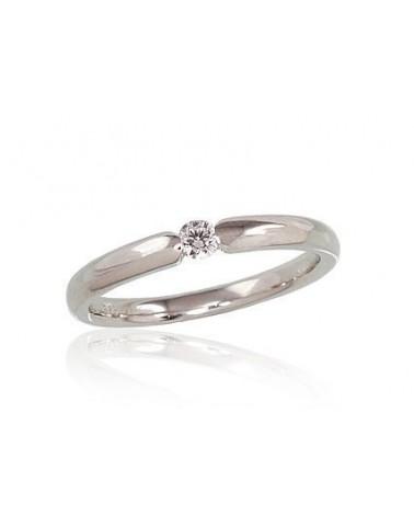 Sužadėtuvių žiedas(AU-W)_DI, Baltas auksas585, Deimantai 0