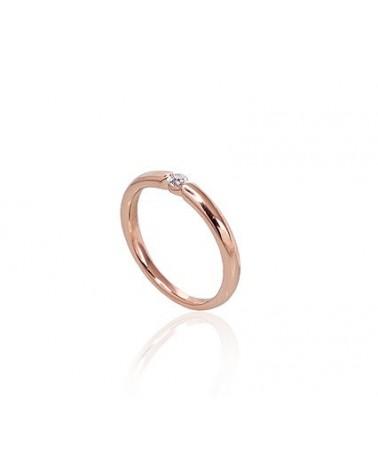 Sužadėtuvių žiedas(AU-R)_DI, Raudonas auksas585, Deimantai 1