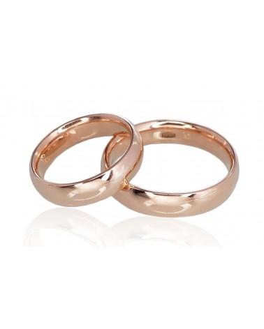 Auksinis sutuoktuvių žiedas(AU-R) (Žiedas storis 5mm , palengvintas), Raudonas auksas5851