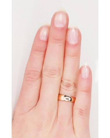 Auksinis sutuoktuvių žiedas(AU-R) (Žiedas storis 5mm , palengvintas), Raudonas auksas5852