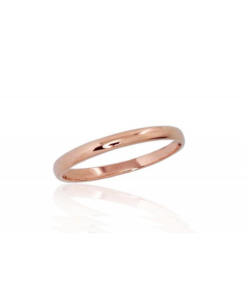 Auksinis sutuoktuvių žiedas(AU-R) (Žiedas storis 2mm), Raudonas auksas5850