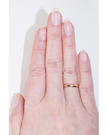 Auksinis sutuoktuvių žiedas(AU-R) (Žiedas storis 3mm), Raudonas auksas5852