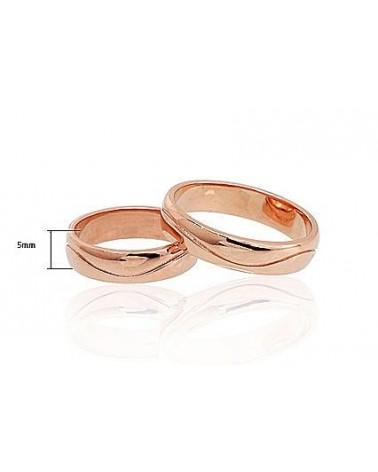 Auksinis sutuoktuvių žiedas(AU-R) (Žiedas storis 5mm), Raudonas auksas5851