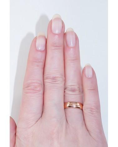 Auksinis sutuoktuvių žiedas(AU-R) (Žiedas storis 5mm), Raudonas auksas5852