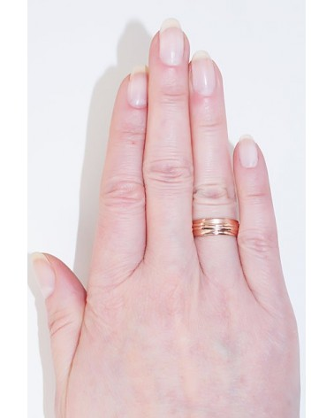 Auksinis sutuoktuvių žiedas(AU-R) (Žiedas storis 6mm), Raudonas auksas5852