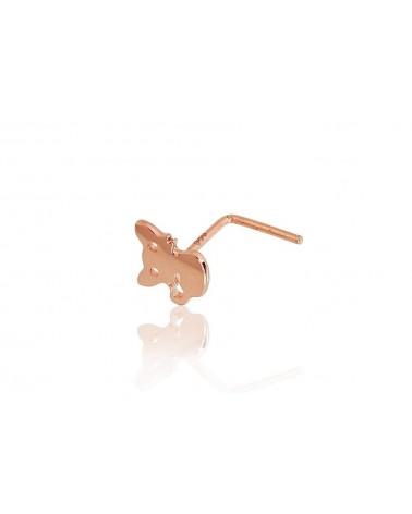 Auksinių auskarų vėrimas į nosį(AU-R), Raudonas auksas5850