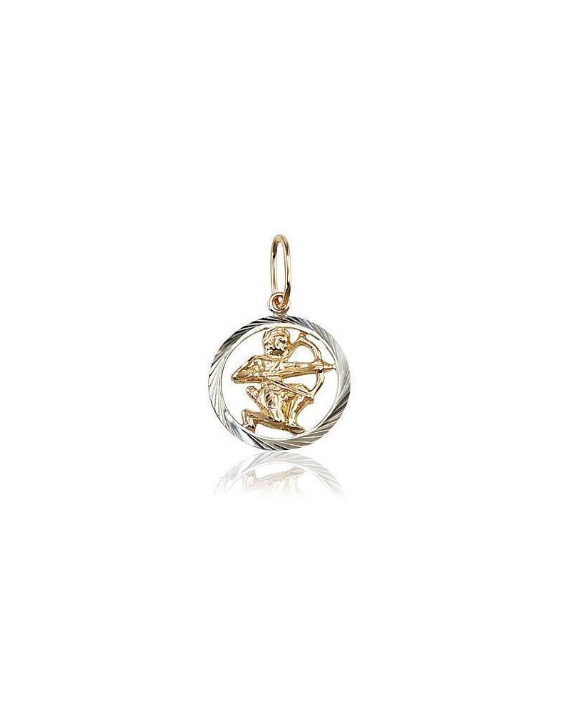 Auksinis pakabukas – zodiako ženklas(AU-R+PRH-W) (Šaulys), Raudonas auksas585, rodis (padengti)0