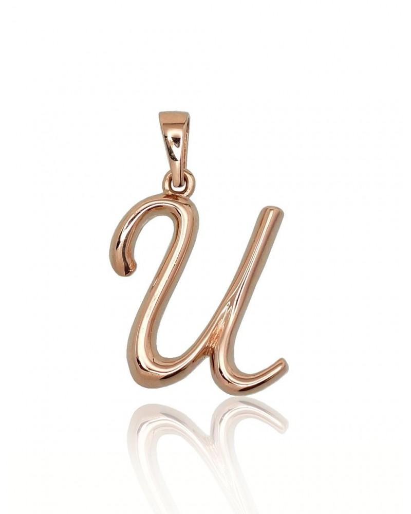 Auksinis pakabukas – raidė(AU-R), Raudonas auksas5850