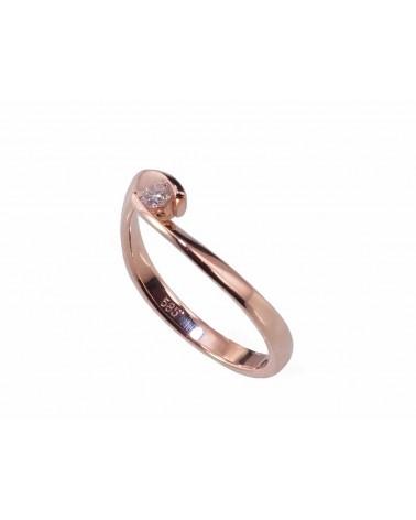 Sužadėtuvių žiedas(Au-R)_DI, Raudonas auksas585, Briliantai 1