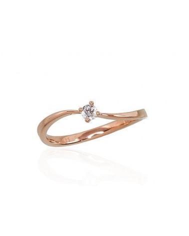 Sužadėtuvių žiedas(Au-R)_DI, Raudonas auksas585, Briliantai 0