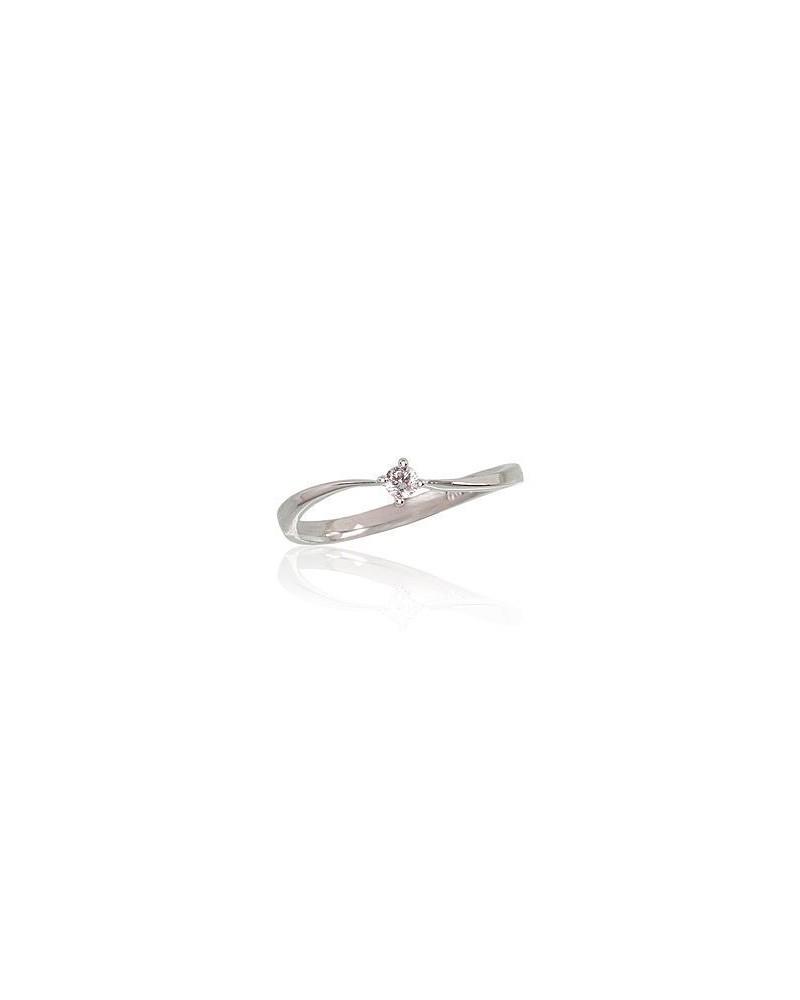 Sužadėtuvių žiedas(Au-W)_DI, Baltas Auksas585, Briliantai 0