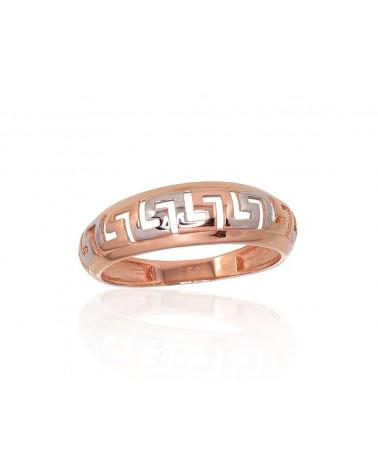 Auksinis žiedas(Au-R+PRh-W), Raudonas Auksas585, rodis (padengti) 0