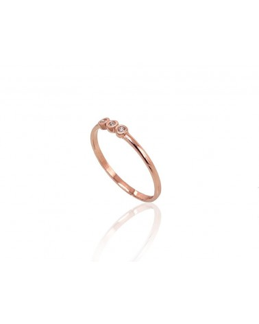Auksinis žiedas(Au-R)_CZ, Raudonas auksas585, Cirkonai 1